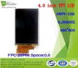 """étalage de TFT LCD de 4.0 """" 480*800 Mipi-Dsi, IC : Ili9806e, FPC 25pin pour la position, sonnette, médicale, véhicules"""