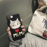 Kundenspezifische 3D Baustein-Mobile-Deckel der Karikatur-DIY für iPhone