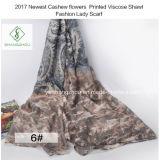 2017 i più nuovi fiori dell'anacardio hanno stampato la signora viscosa Scarf di modo dello scialle
