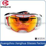 Les glaces de Sun duelles faites sur commande de protection de Snowboard ont reflété les lunettes anti-éblouissantes de ski de sport en plein air de lentille