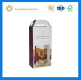 Rectángulo de envío plegable del envío acanalado fuerte del embalaje para las botellas de vino (plano pila de discos)