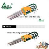 Комплект Greenery головки Pozi ключа Ален 9 оптически ключей Qualtiy Extra-Long Hex сферически