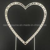 Corazón del Rhinestone de la vendimia de los primeros de la torta de boda de la alta calidad solo