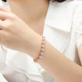 Reales Kettenlink-Luxuxarmband mit freiem KubikZircon für Geschenk-Schmucksache-Armband des Mutter Tages
