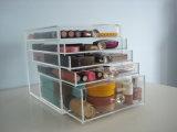 Organizzatore acrilico su ordinazione di trucco con 5 cassetti