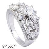 Joyería de plata anillos de compromiso CZ del nuevo diseño mujeres de los anillos de fantasía
