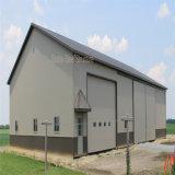 Vorfabrizierte helle Stahlkonstruktion-Bauernhof-Halle