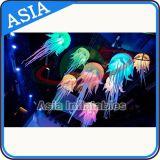 Schöne Partei-Dekoration-Qualle-Nachtbeleuchtung, hängende LED-aufblasbare Qualle