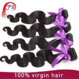 cabelo não processado brasileiro do Virgin 7A, cabelo brasileiro em linha, extensão brasileira do cabelo do Virgin da onda do corpo