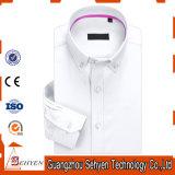 рубашка официально платья белой длинней втулки 100%Cotton тонкая для людей