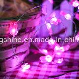 ウサギストリングは2.3FTを15のLEDsの銀製ワイヤー装飾のための電池式の妖精ロープライトつける