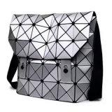 Silber PU-rhombische geometrische Unisexhandtasche (M005)
