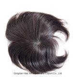Mono Silk Base PU em torno de Remy cabelo humano Toupee masculino