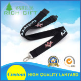 Free Design Customized Mobile Phone Neck Keychain Impresso Nylon Lanyard Strap para item promocional