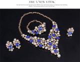 Ювелирные изделия серег ожерелья PCS кристаллический способа 4 перлы установленные