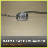 Edelstahl-Wärme, die Gefäß austauscht
