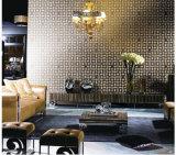 Нержавеющая сталь роскошной мозаики мрамора камня черноты типа смешанная