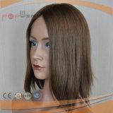 Парик верхних человеческих волос цвета волос девственницы конструкции способа Qualtiy нетронутых Silk верхний