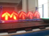 Sinal de piscamento do diodo emissor de luz & da esfera cheia verde vermelha & ambarina da luminância En12368 elevada aprovada com setas