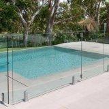 Sostenedor de cristal del vidrio del carril del acero inoxidable de la cerca de la piscina Ss304/316