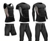 Тельняшка Влаги-Wicking гимнастики пригодности человека/короткие/длиной Sleeve 3 части Sportswear
