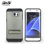 con la función 2 del soporte en 1 caja de electrochapado del teléfono móvil para Samsung J7