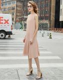 Платье просто безрукавный розовых женщин Fishtail Кругл-Шеи