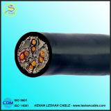 Fil de cuivre/en aluminium de câble d'alimentation de gaine de PVC d'isolation du conducteur XLPE