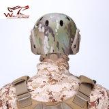 Nvgの台紙及び側面柵のAirsoftの防弾のための戦術的な安全ヘルメットが付いている速い軍隊PJのヘルメット
