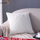 La lana que hace punto del sofá amortiguador de la almohadilla