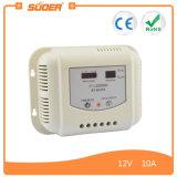 Regulador solar Suoer 12V 10A controlador de carga solar portátil con CE y RoHS (ST-G1210)