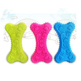 Bone Shape Plastic Rubber Dog Toy para Dog Chew