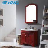 Soildの木製の浴室のオーク製の箱の簡単なヨーロッパの陶磁器の洗面器