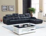Chegada nova L couro genuíno da forma e sofá moderno da sala de visitas