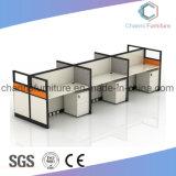 Poste de travail modulaire de 4 portées de meubles de bureau
