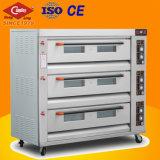 9 bandejas de forno a gás forno de forno / pão de gás comercial forno