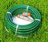 manguito de jardín reforzado resistente ULTRAVIOLETA del PVC de los 30m (100 ') con la cuerda de rosca del poliester