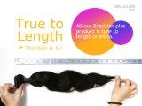 Venda por atacado de espessura de cabelo cutâneo cutícula Remy Virgin cabelo humano brasileiro