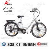 vélos électriques du moteur 250W d'alliage d'aluminium de ville sans frottoir de bâti (JSL038XD-4)