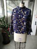 Ladies Fairy Long Sleeve imprimé Blouses Vêtements