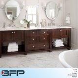 Europäisches Art-Schüttel-Apparateitelkeits-Badezimmer-Möbel-Panel mit Bassin-Spiegel