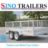 Remorque galvanisée lourde d'utilitaire de cage du cadre 12*6