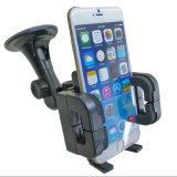 0408A 360 tournent le support de téléphone de véhicule de stand de support de pare-brise d'aspiration