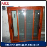 Aluminium, das doppeltes Glasur-Fenster schiebt