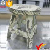 Taburete de madera del asiento redondo elegante lamentable amarillento mini