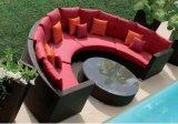 Mobília do jardim feita pelo vime Uv-Resistan do PE