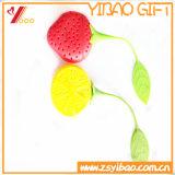 Bustina di tè su ordinazione di figura della frutta del silicone del commestibile