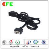 전자 공급자를 위한 사각 4pin 자석 케이블 비용을 부과 연결관