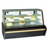 Zujubelnder Bildschirmanzeige-Kühlraum-Doppelt-Lichtbogen-Kuchen-Schaukasten