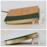 Taccuino cachi promozionale del coperchio A5 del cuoio dell'unità di elaborazione